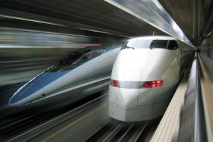 Catching the Shinkansen bullet trains in Japan