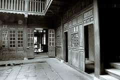 Old house courtyard