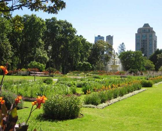 Botanical garden in Melbourne