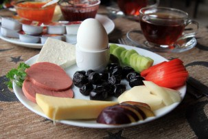 A traditional Turkish breakfast
