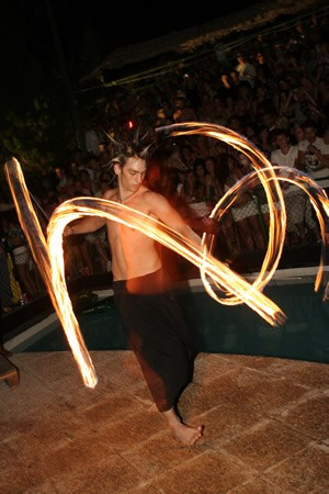 Travel photography fire dancer