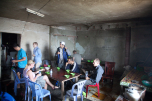 Lunch in a derelict building