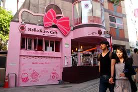 The Hello Kitty cafe in Seoul