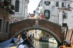 View from a venice gondola
