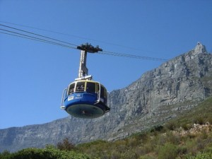 table mountain and cable car
