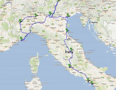 Italy road trip itinerary - An Ultimate Italian drive