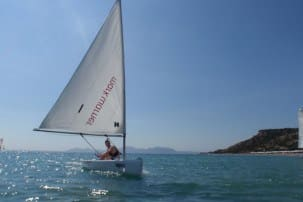 Learning to sail in Kos, Greece