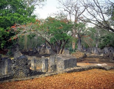 Visiting the ruins of Gedi in Kenya