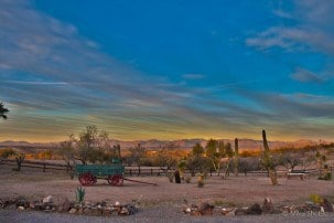 A cowboy experience in Wickenburg , Arizona