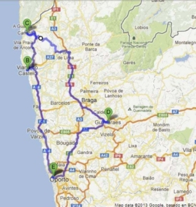 Portugal road trip itinerary