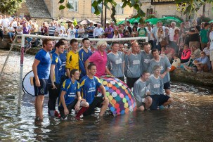 Bourton on the water – Football in the river – The movie!