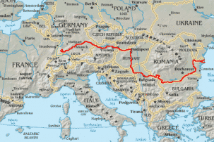 countries of the danube