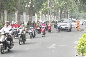 Saigon from the back of a motorbike