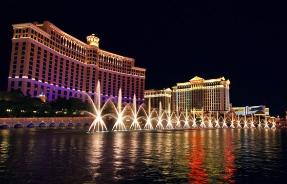 Bellagio fountains in Vegas