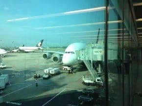 SQ308 A380 Singapore to London