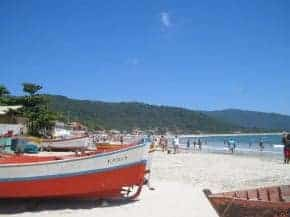 Armacao beach in Florianopolis