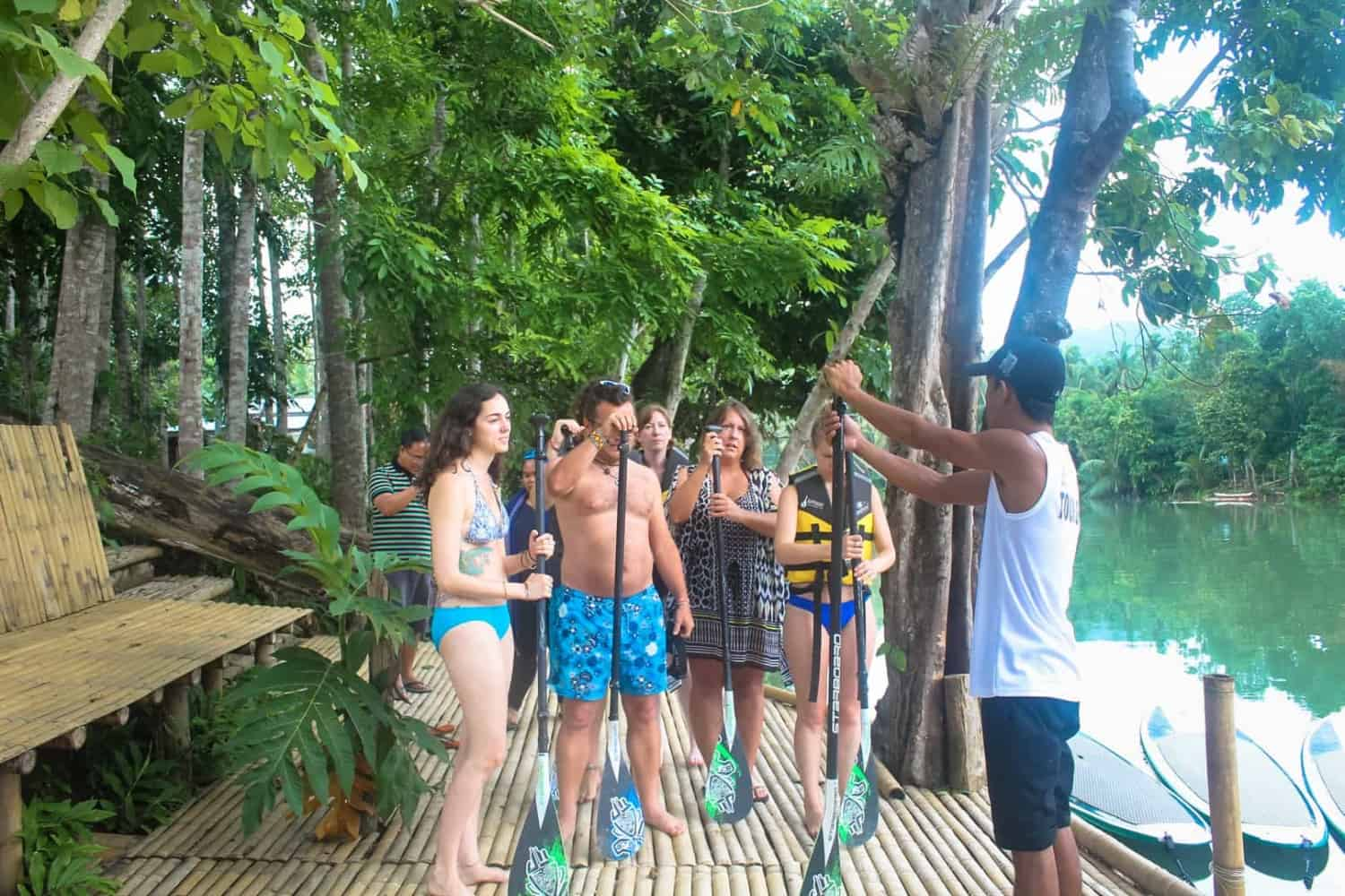 Paddle board lessons in Philippines