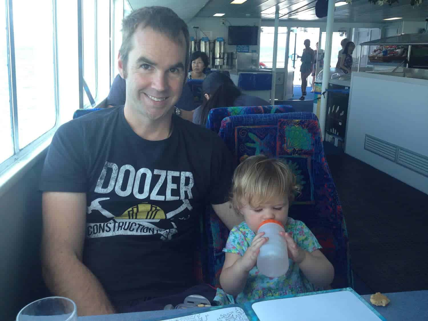 Taking a child to the Great Barrier Reef