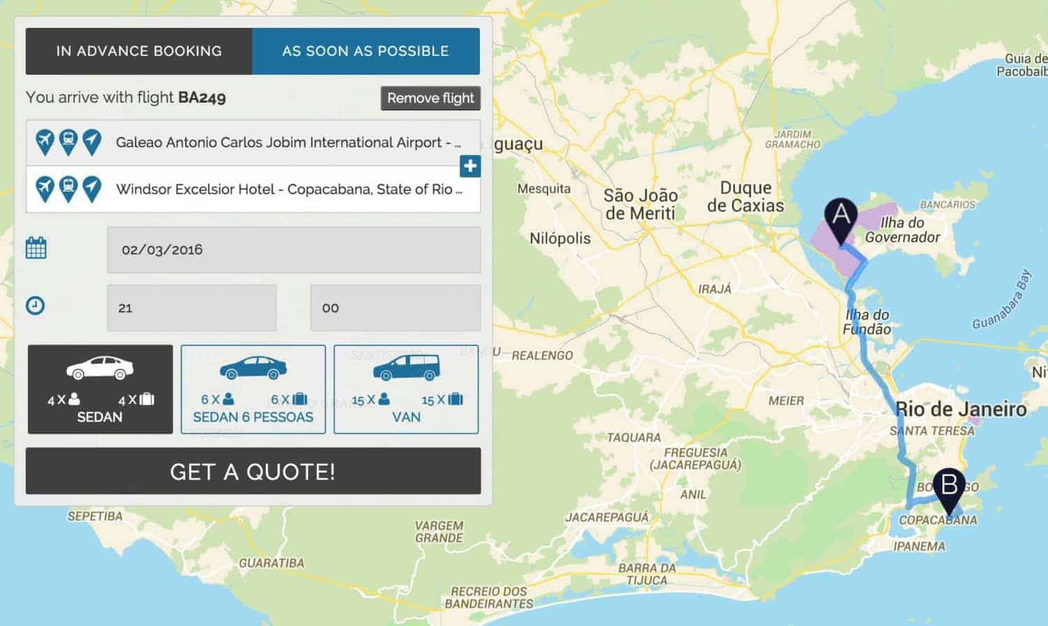 Brazil online taxi booking service