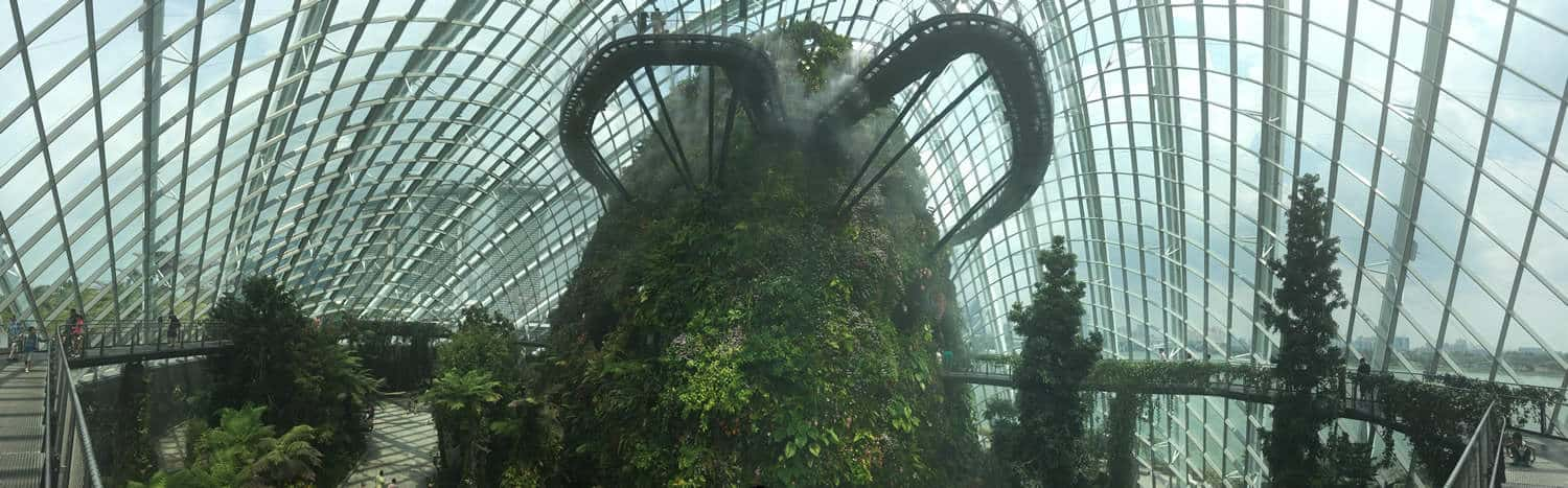 Whats inside gardens by the bay?