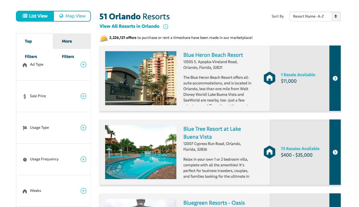 Timeshare rental website review