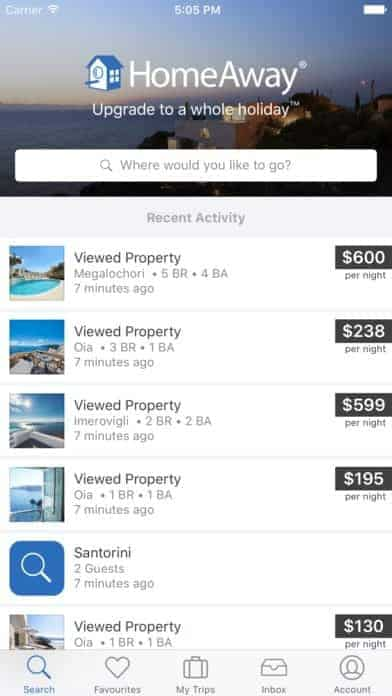 Direct holiday rentals app