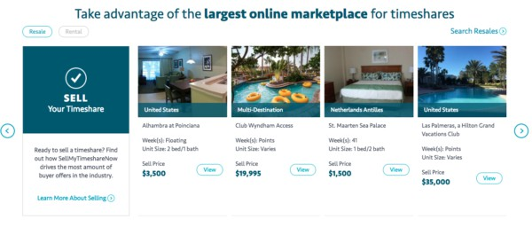 Sell my timeshare now website review