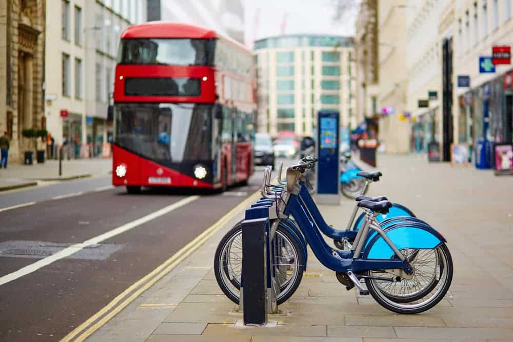 Red Bus & Santander Cycles