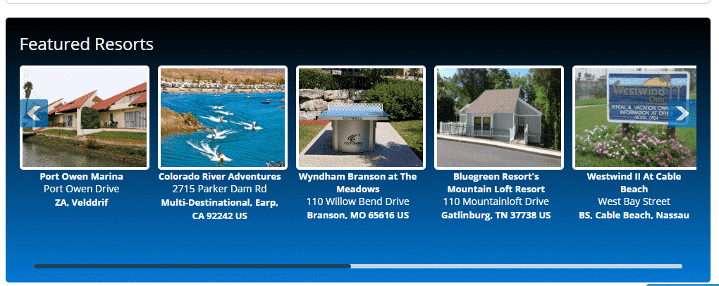 TimeShare 4 Featured Home Page