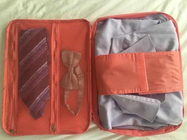Shirt and accessories case